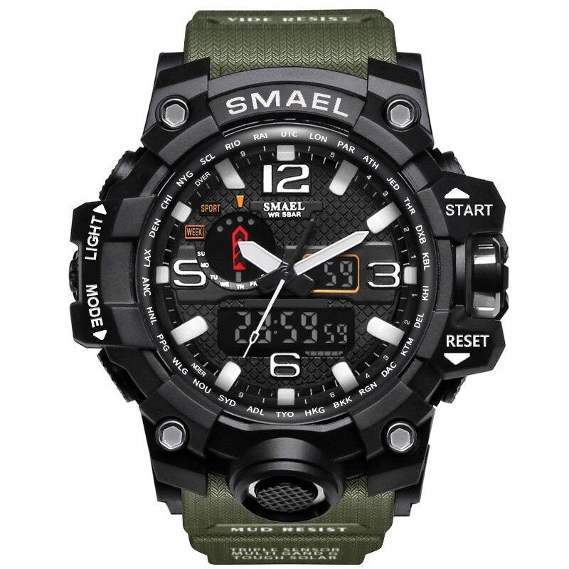 Brand Sport Digital Watch Men Quartz Led Analog Dual Display WristWatch Wrist Army Waterproof Male Relogio Masculino Hodinky 36