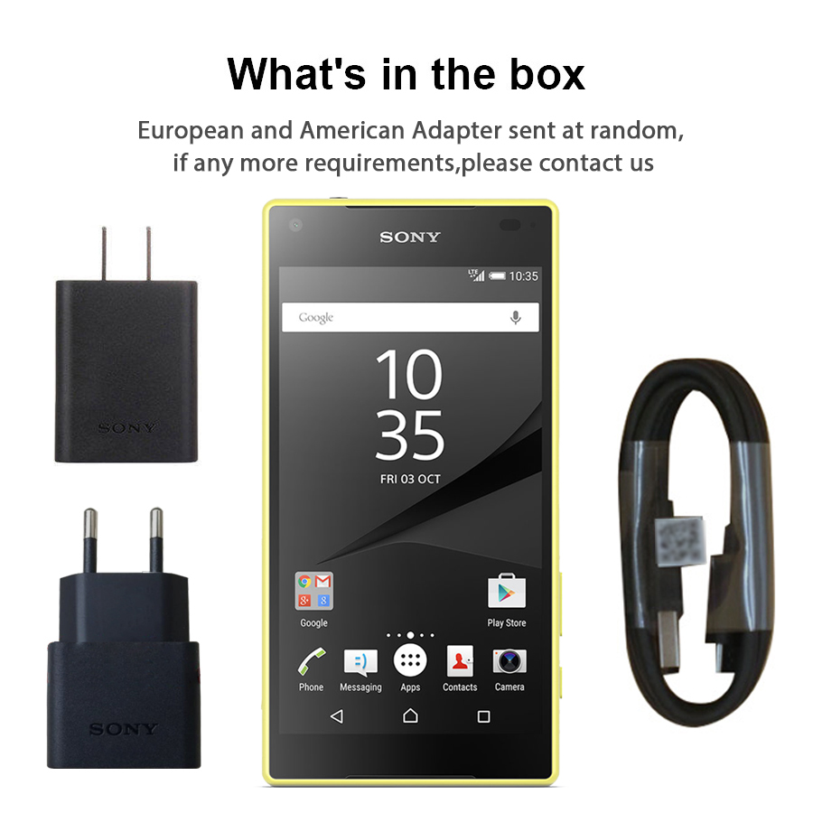 Image 5 - Original Sony Xperia Z5 Compact E5823 Unlocked 2GB RAM 32GB ROM Android Quad Core&Quad Core 23MP GSM Smart Phone-in Cellphones from Cellphones & Telecommunications