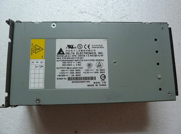 804-021719-001 DPS-450CB-1 L RAID Power Supply Original 95%New Well Tested Working One Year Warranty