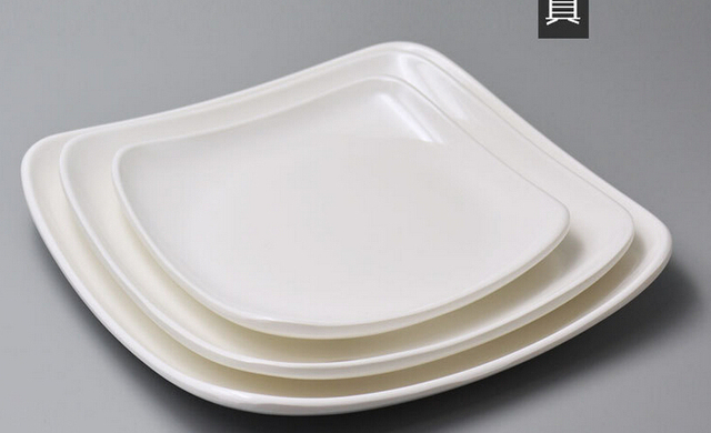 Wholesale - Free shipping high quality A5 melamine tableware melamine plastic plate plates square flat plate & Wholesale Free shipping high quality A5 melamine tableware melamine ...