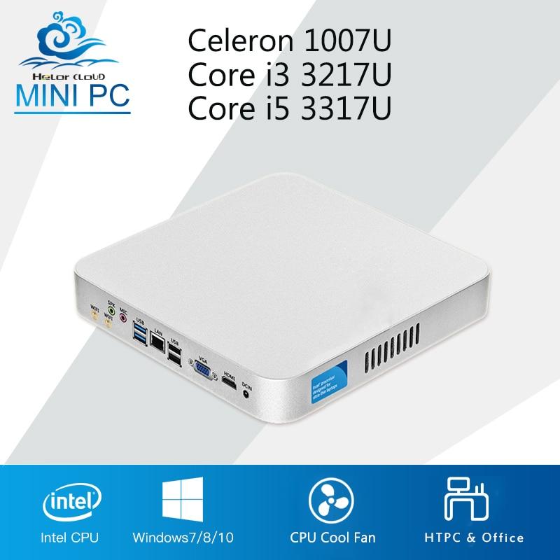 все цены на Intel Mini PC Core i5 3317U i3 3217U Cooling Fan Celeron 1007U Windows 10 Mini Computer Desktop Multimedia Office Computer онлайн