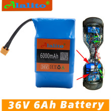 ALalito high quality 6AH balance scooter battery pack 36V 6000mAh high drainage 2 wheel electric scooter balance battery(China)