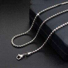 316L, цепочка из нержавеющей стали, ожерелье s для мужчин, цепочка в коробке, серебряное ожерелье, мужские ювелирные изделия 2,3 мм