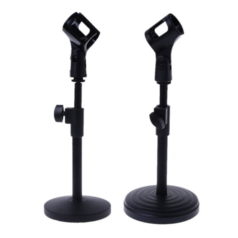 Hot New Mudder Adjustable Foldable Desk Microphone Stand Metal Base With Mic Clip For Meetings