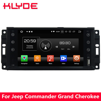 KLYDE 4G Android 8 Octa Core 4GB RAM 32GB ROM Car DVD Multimedia Player Radio For Jeep Grand Cherokee Commander Patriot Wrangler