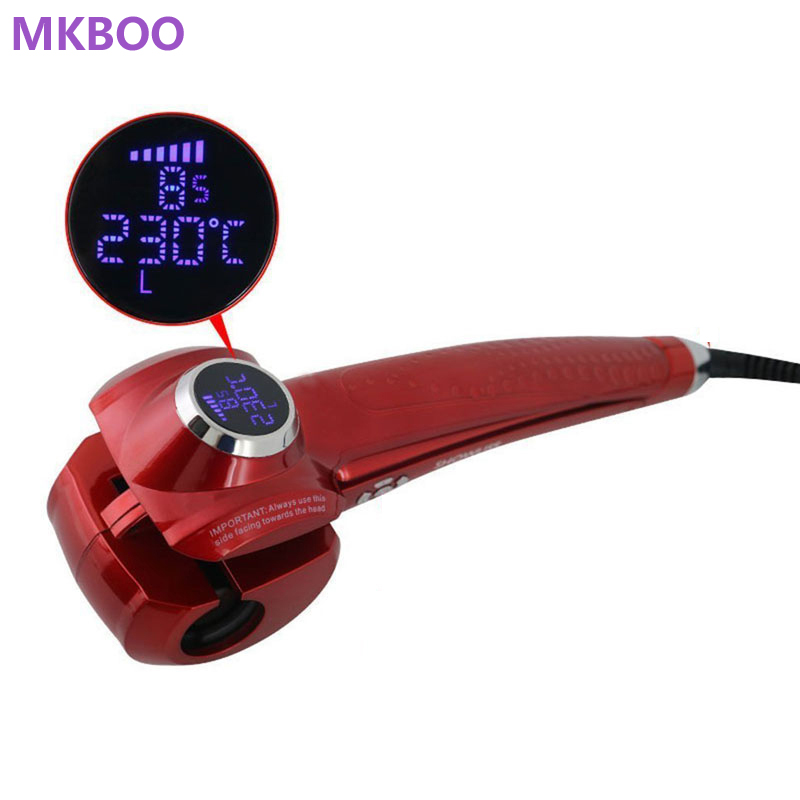 New Hair Curler Styler Heating Hair Styling Tools LCD Display Automatic Hair Curler Magic Hair Curlers Wand Free Shipping lcd display adjustable temperature automatic anion hair curler magic styling tools