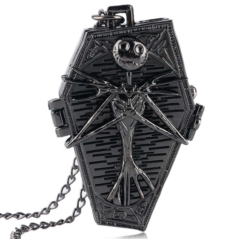 Vintage The Nightmare Before Christmas Steampunk Retro Modern  Pendant Necklace Cool Womens Mens Quartz Pocket Watch