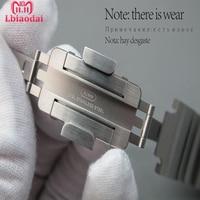 Оригинальная натуральная для наручных часов Apple watch, версии 44 мм 40 мм Нержавеющаясталь соединяющий ремешок браслета наручных часов iwatch сер
