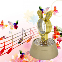 Portable Small Rabbit Shape Music Box Relax Projection Lamp Romantic Night Light For Kid Adult Bedroom