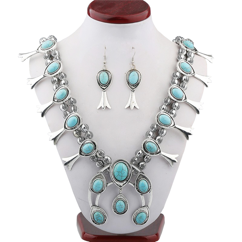 new European selling Vintage Synthetic stone Necklace pattern beaded necklaces wholesale fine jewelry one direction