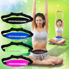 Running Waist bags Pack Pocket Belt with LED Lights Adjustable Safety Waist Bag Sports Bags In Stock