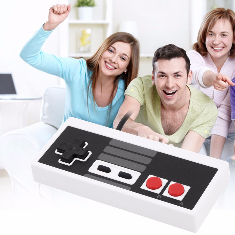 Black+White Plastic Classic Gaming Controller Joypad Gamepad For Nintendo NES 125 x 55 x 18 mm for Windows PC for MAC