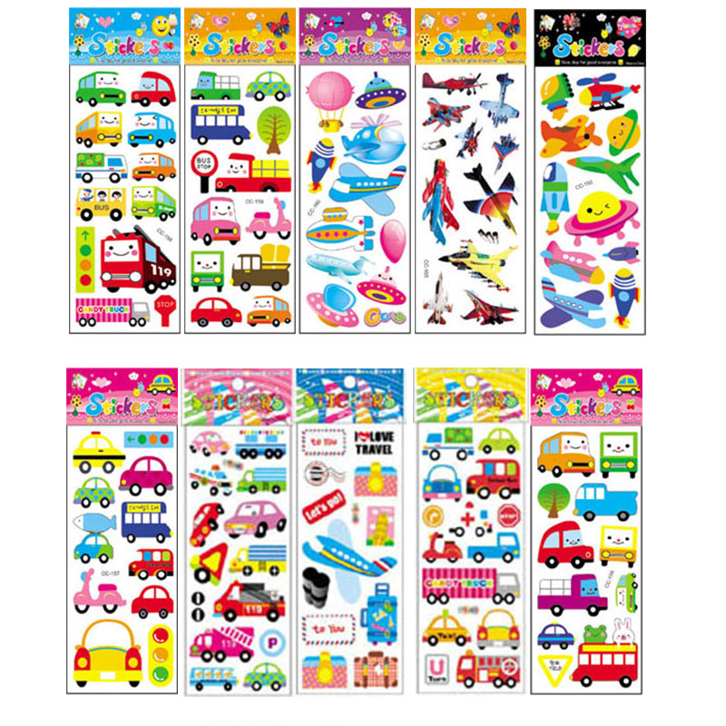 10Pcs Different Cartoon Sticker Toys For Children Gift Kindergarten Sticker On The Phone Notebook No-repeat
