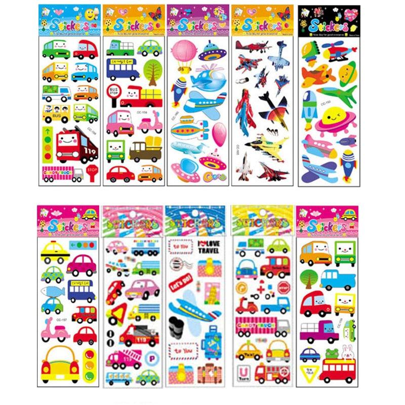 10Pcs Different Cartoon Sticker Toys For Children Gift Kindergarten Sticker On The Phone Notebook No-repeat