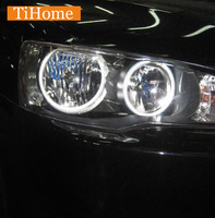 Бесплатная и Быстрая доставка CCFL Ангельские глазки Кольца комплект не проектор HALO Кольца автомобиля Средства ухода для век для Mitsubishi Lancer ...
