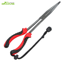 Booms Fishing F05 Hook Remover Bent Long Nose Fishing Pliers 11 Inches Teflon Plated Stainless Steel