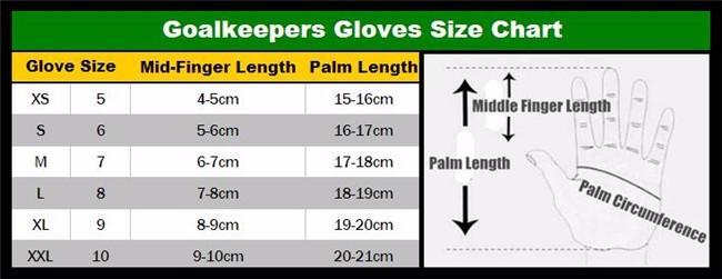 2017 Men Soccer Goalkeeper Gloves Wearable Slip Resistant Football Keeper Latex Goalie Gloves Professional Double Protection 9