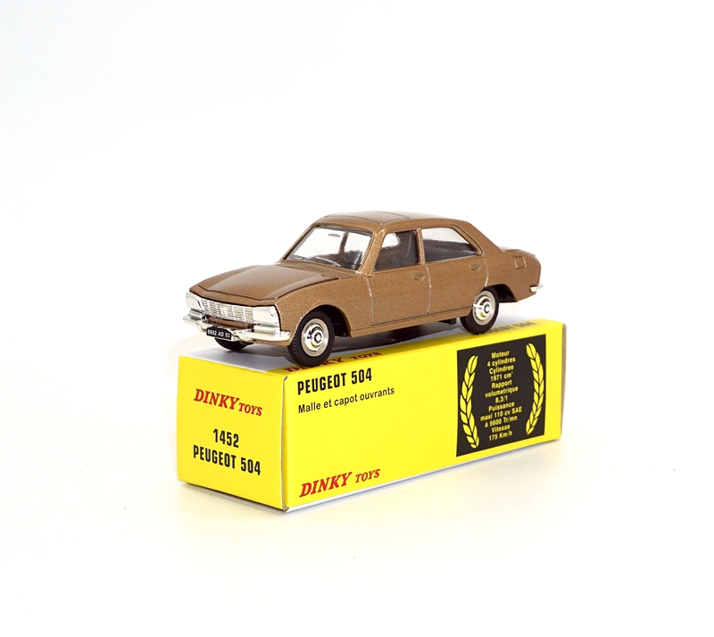 Diecast Atlas 1:43 Dinky Toys 1452 PEUGEOT 504 CAR MODEL COLLECTION