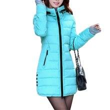 Women Down Cotton Jackets Slim Parkas Ladies Coat Womens Plu