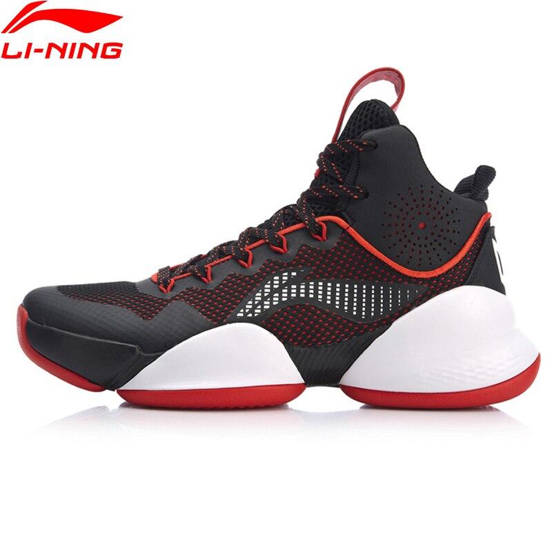 Li-Ning/мужская спортивная обувь для баскетбола с высоким вырезом и подкладкой, ABAN045 XYL202