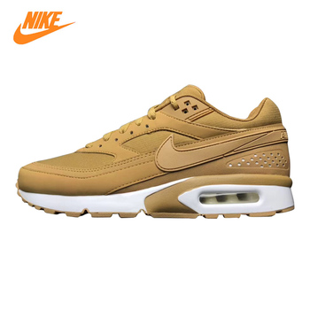 Nike Air Max BW Premium Men's Running Shoes, Yellow/Grey, Breathable, Shock Absorbing Wear-resistant  881981 200 881981 001