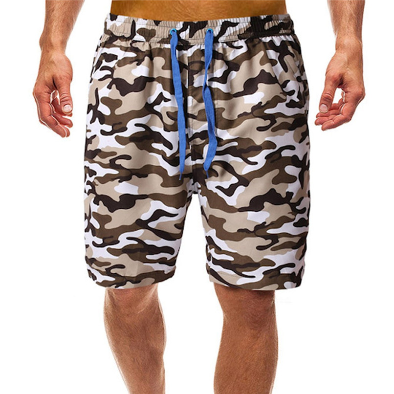 Surfing Beach   Shorts   Men Camouflage printed Quick Dry beach   Board     Shorts   swimming trunks Surfing Running   Short   Pant #2H07