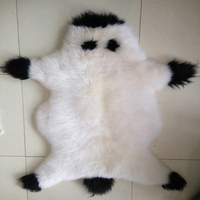 Real Cute Fur Cushion Sheepskin Fur Rug Bedrooms Decorative Blanket Throw Blankets And Throws Rugs And