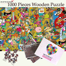MOMEMO Cartoon World Adouts 1000 Pieces Jigsaw Wooden Puzzles Puzzle Toys Games Kids Toy Decor