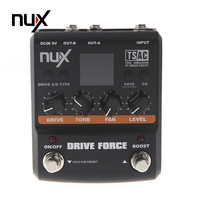 NUX Guitar Drive Force Modeling Stomp Simulator Electric Effect Effectors Pedals 10 Models Musical Instrument Parts