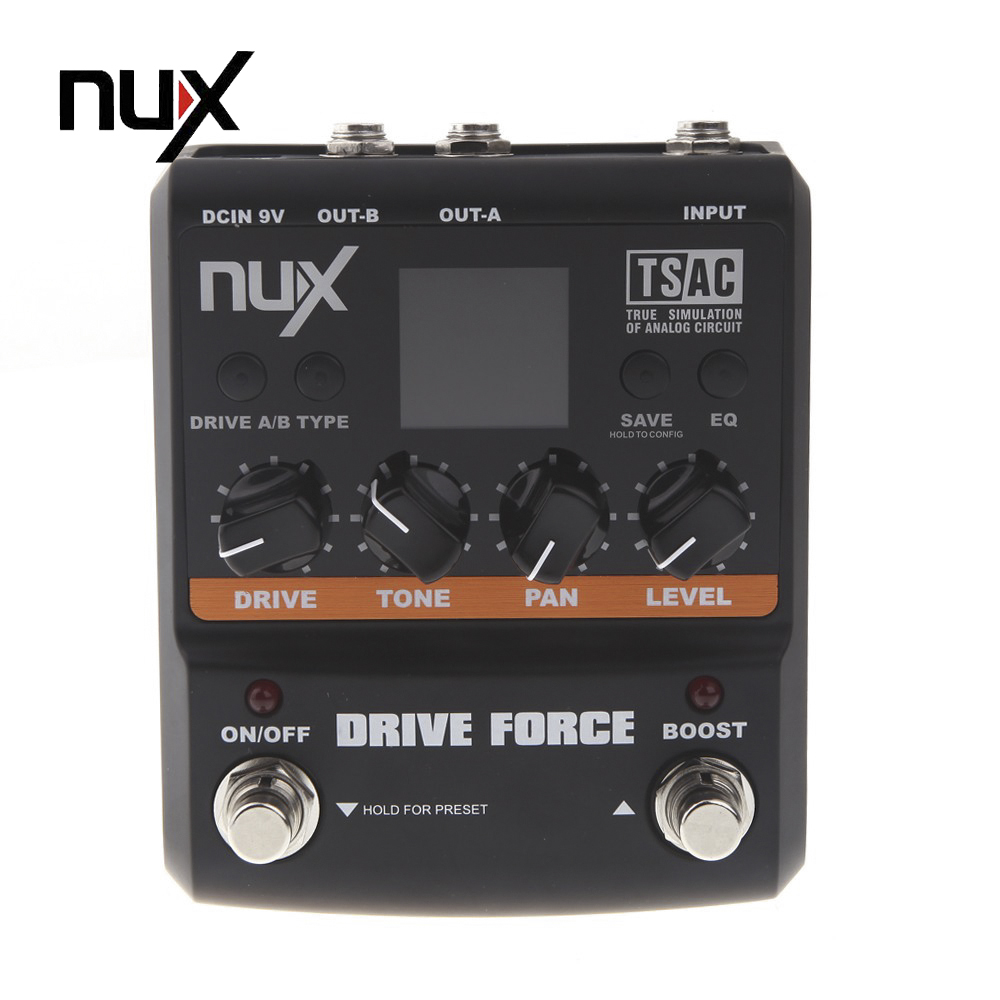 NUX Guitar Drive Force Modeling Stomp Simulator Electric Effect Effectors Pedals 10 Models Musical Instrument Parts nux roctary force simulator polyphonic octave stomp boxes electric guitar effect pedal fet buttered tsac true bypass