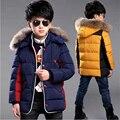 2016 nueva ropa de los niños capa del muchacho grueso abrigo de invierno los niños del bebé de algodón larga sección grande virgen de algodón acolchado chaqueta