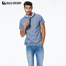 GLO-STORY 2019 Spring New Mens Pullover Sweatshirts Hip Hop Street Short Sleeve Tops Casual Style for Male MPO-7323