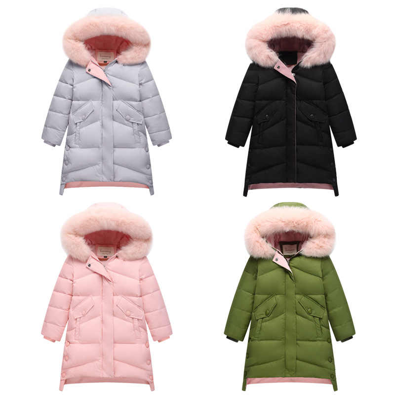 b76fff880f20 ... Children New Winter Duck Down Jacket Parkas for Girl Hooded Thick Warm  Feather Outerwear Coats Kids ...