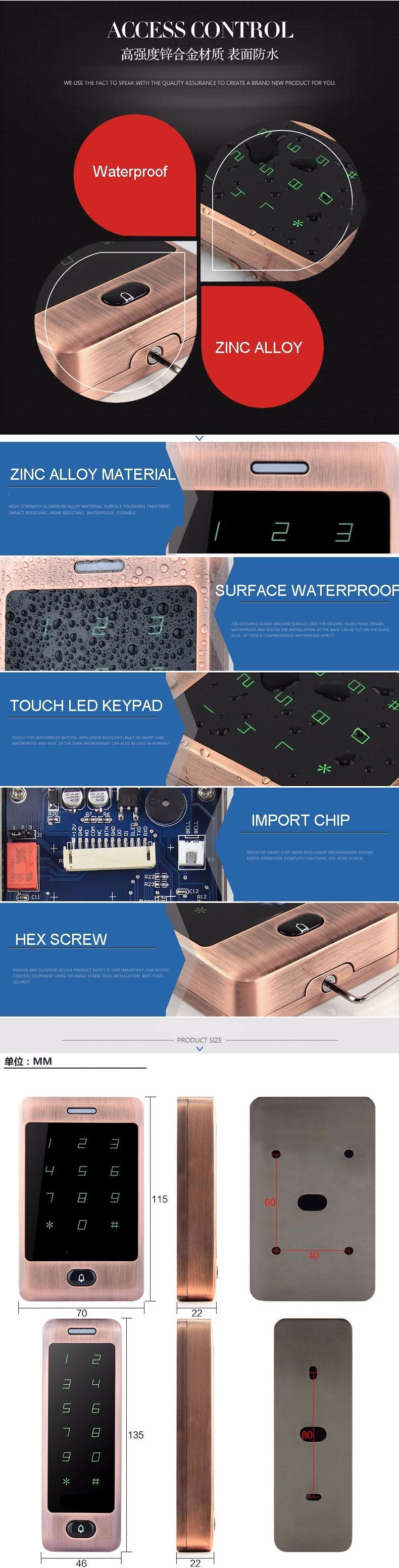 новое поступление хорошее качество 125 кгц радиочастотной идентификации-смарт-карты m13a управления двери автономно без программного обеспечения лицо водонепроницаемый доступ контроллер