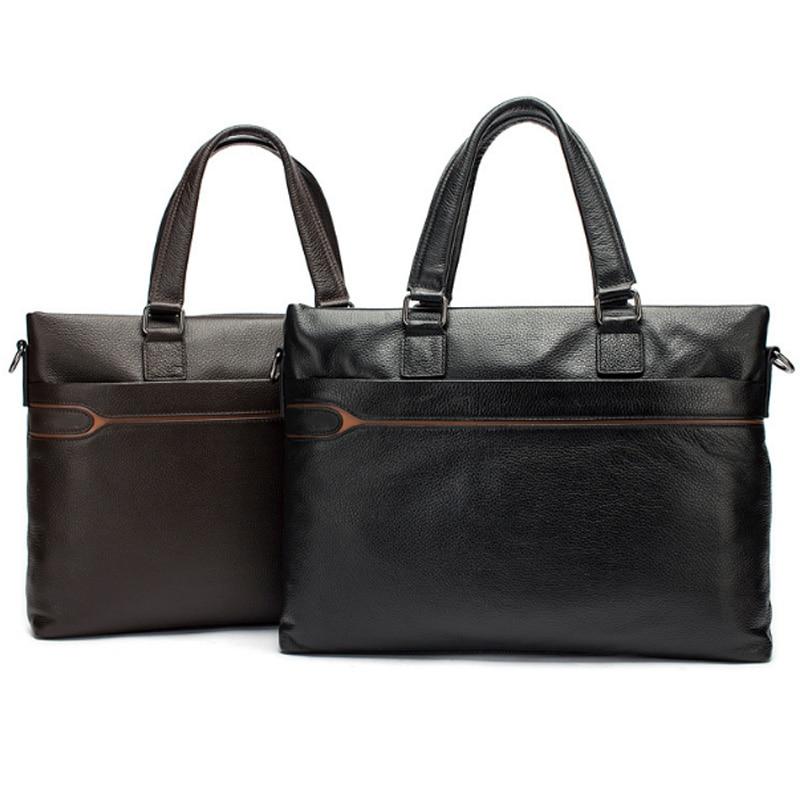 European And American Men'S Portable Briefcase Fashion Trend Men'S Business Shoulder Computer Bag Leather Men'S Bag