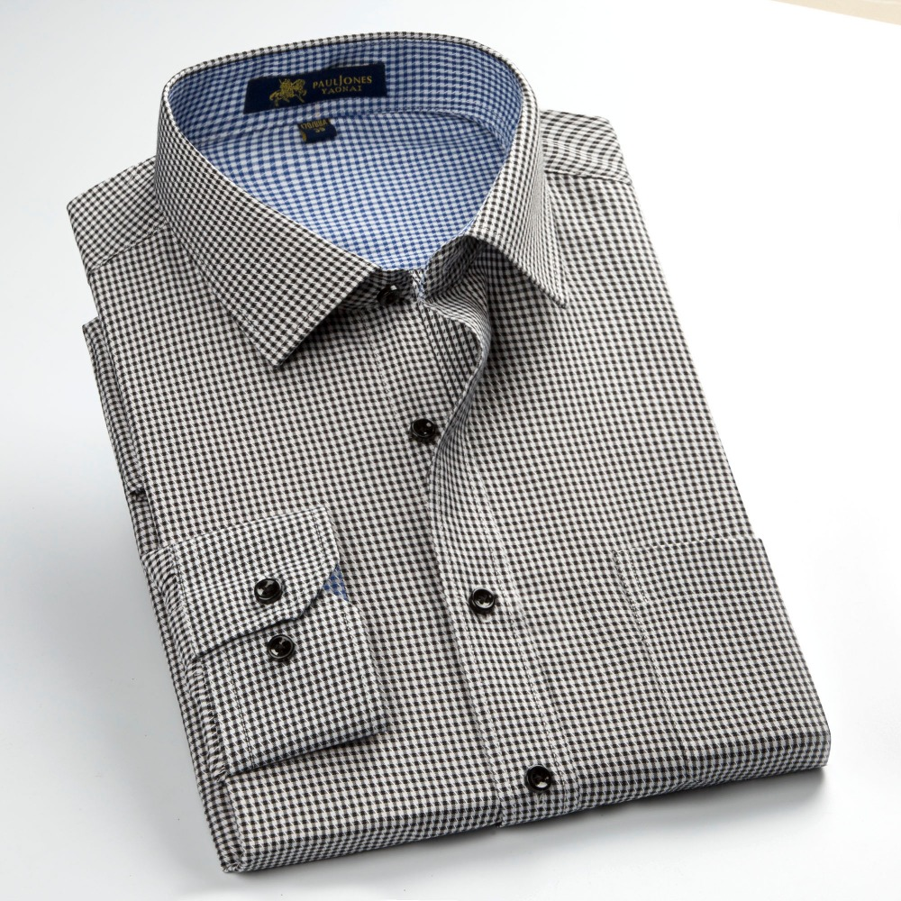 2017 Leisure Style Fashion Collar Shirts Long Sleeve Plaid Shirts