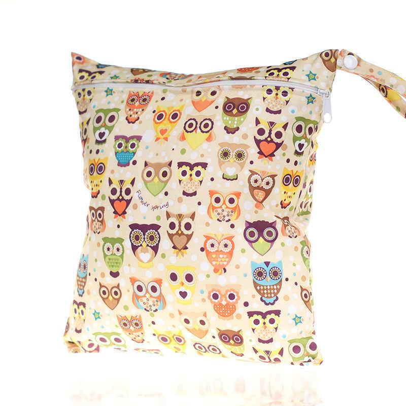 1 шт. милый Wetbag мультфильм влажный мешок водонепроницаемые подгузники сумки для рюкзак для мамы рюкзак с надписью MOM Материнство многоразовые трусики-Подгузники Сумки уход за ребенком