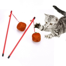 Cat Halloween Pumpkin Toys Playing Head Teaser Pointer Toy Funny Kitten Pet Dangler Rod Stick With Bell Wand