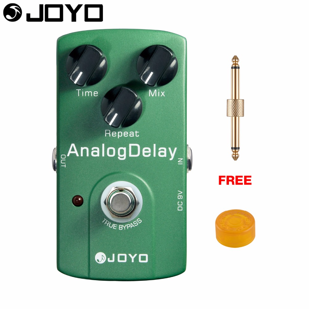 JOYO Analog Delay Electric Guitar Effect Pedal Time Control True Bypass JF-33 with Free Connector and Footswitch Topper mooer hustle drive distortion guitar effect pedal micro pedal true bypass effects with free connector and footswitch topper
