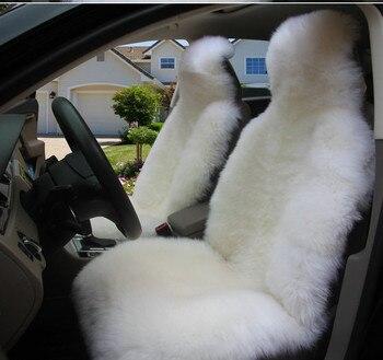 Australian Woolen Sheepskin Car Seat Cover Front Single Seat Cover Winter Warm for Lada Granta,Universal size for Logan Toyota