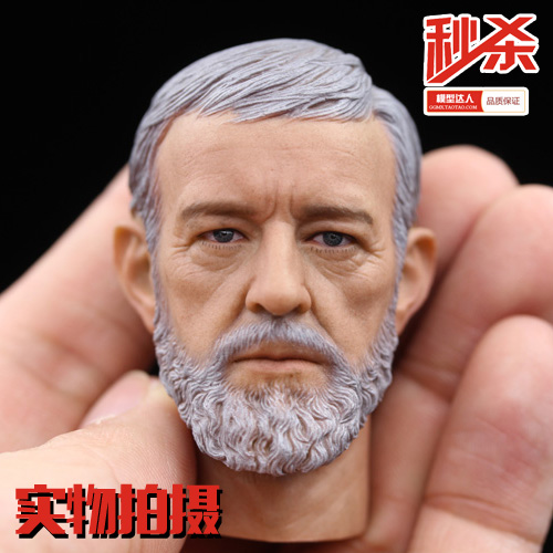 ФОТО Brand New 1/6 Scale Star Wars 4: The New Hope Jedi Knight Master Ben Obi-Wan Kenobi Head Sculpt For 12'' Action Figure Model Toy