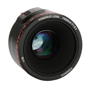 Image 2 - YONGNUO YN50mm F1.8 II Large Aperture Auto Focus Lens for Canon Bokeh Effect Camera Lens for Canon EOS 70D 5D2 5D3 600D DSLR