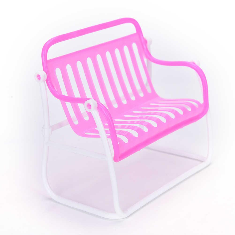 1 pc Sofá Mobiliário Cadeira de Salão Poltrona Para Rosa Princesa Boneca Casa de Boneca Móveis Acessórios Meninas Melhores Presentes