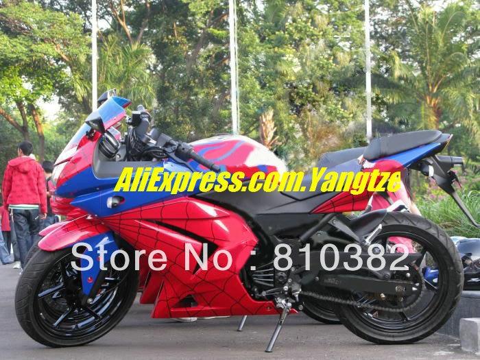 Impressive red Fairing for KAWASAKI Ninja ZX250R 08-12 ZX-250R 2008-2012 ZX 250R EX250 08 09 10 11 12 2008 2012