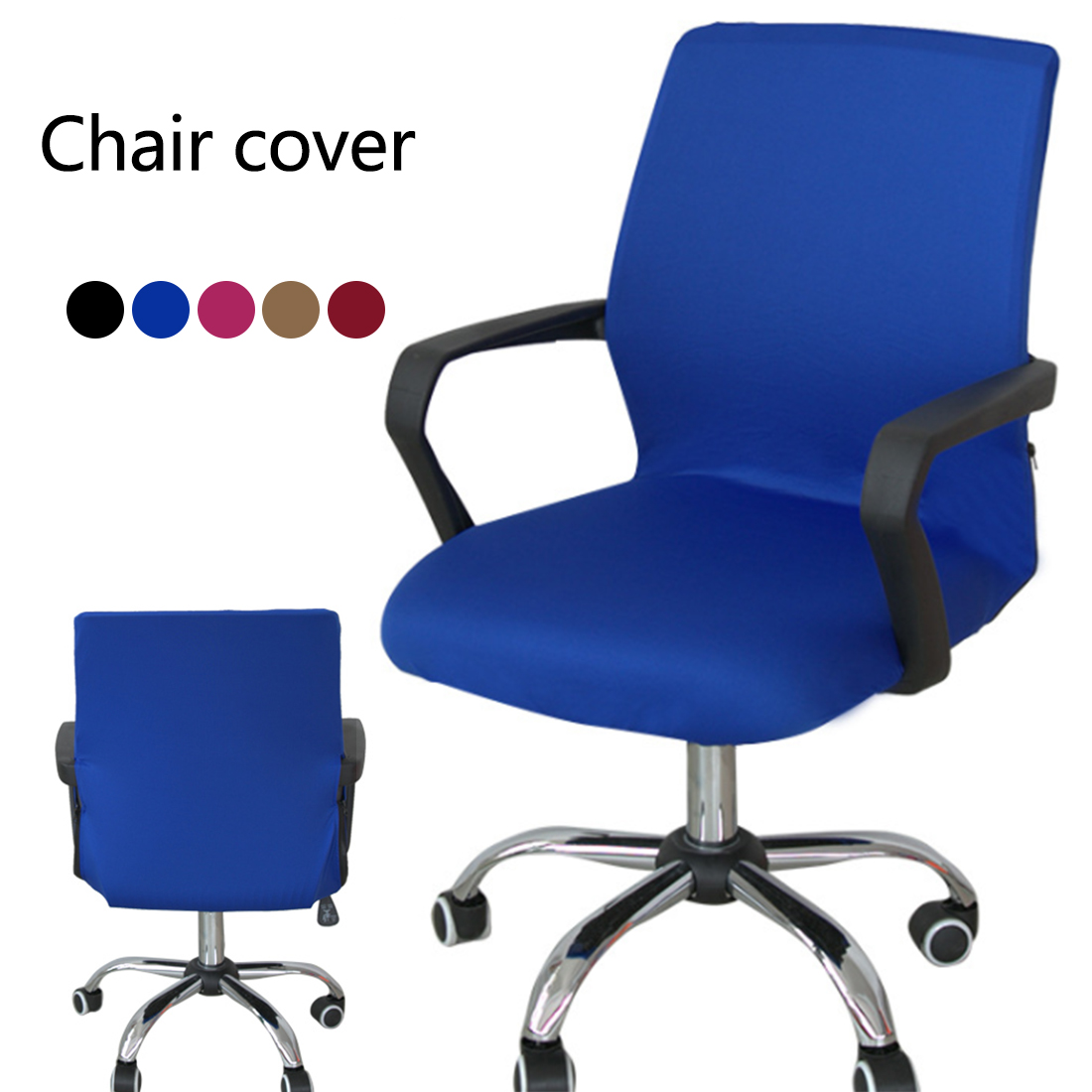 Cheap Computer Chair Top Sale Smooth Elastic Polyester Computer Chair Office Chair Cover Stretch Armchair Covering Dining Chair Protector Slipcover In Chair Cover From