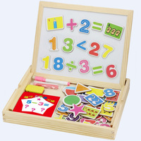 Wooden Toys Preschool Children S Mathematical Shape Magnetic Drawing Board Sided Fight Music Toys Educational Toys