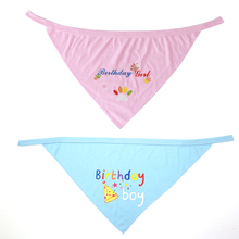 Dog Birthday Bandana Bibs Scarf Accessories Triangular Bandage for Puppies Medium and Large Dogs Gift