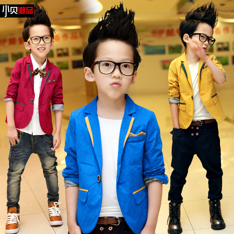 2015 New Childrenu0026#39;s Spring Casual Suits Boys Jackets Long Sleeve Blazers For Big Boy Top ...