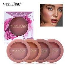 Miss Rose, 12 цветов, для лица, запеченные для щек, румяна, палитра, телесная Роза, минеральная пудра, комплект румян, макияж, натуральный бронзер, румяна, косметика