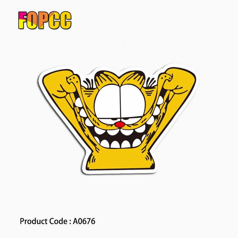 Garfield cartoon anime naklejki cute cat wodoodporna walizka na laptopa GuitarLuggage deskorolka rower zabawka piękne A0581 naklejki
